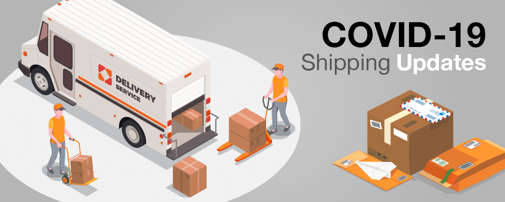 COVID-19 Shipping Update Banner Image