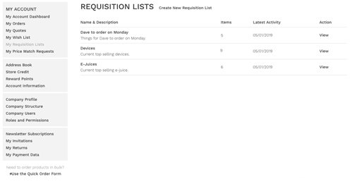 My Requisition List